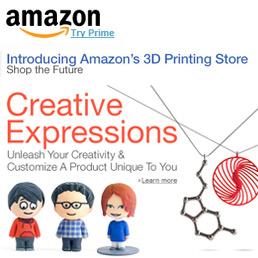 Amazon apre negli Usa la sezione per oggetti realizzati con la stampante 3D
