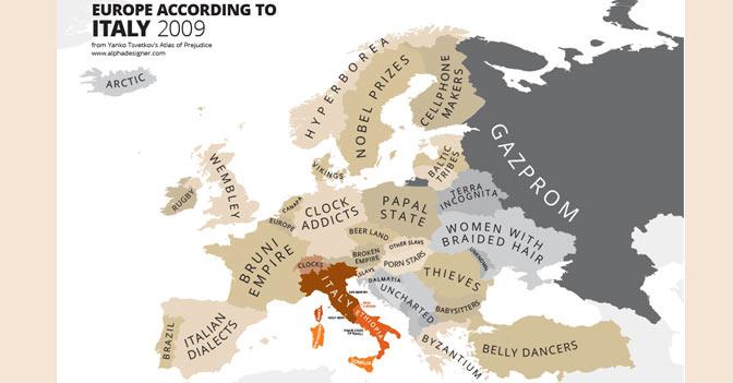 Cartina Geografica Europa In Italiano.L Europa Dei Luoghi Comuni Vista Da Italia