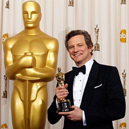 Agli Oscar trionfa «Il discorso del re». Nella foto Colin Firth, premiato come migliore attore protagonista nel ruolo di Giorgio VI nel film di Tom Hooper (Reuters)