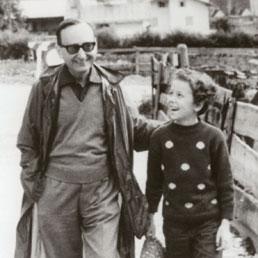 Il maestro Eugenio Garin con la figlia Anna Rossi