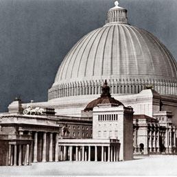 Albert Speer, modello della sala cupola previsto a Berlino -1939