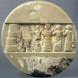 Disco di Enkheduanna, figlia di Sargon di Akkad (ca. 2285-2250 a.C.), rinvenuto a Ur e conservato presso l'Univiersity of Pennsylvania Museum