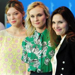 "Le protagoniste di ""Farewell my Queen"" Léa Seydoux, Diane Kruger e Virginie Ledoyen (Afp)"
