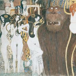 Particolare dal fregio di Beethoven realizzato da Gustav Klimt tra il 1901 e 1902