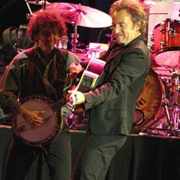 Torna dal vivo Bruce Springsteen, la più «italiana» tra le rock star. E gli Usa gli chiedono un nuovo inno. Un immagine di Bruce Springsteendel a Udine nel 2006