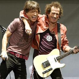 Un Immagine presa a New York il 10 maggio 2005, mostra Rolling Stones, Mick Jagger e Keith Richards. (Afp)