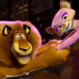 Una scena del film Madagascar 3