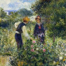 Mazzo Di Fiori Su Una Sedia Renoir.Renoir Il Pittore Della Joie De Vivre In Mostra A Pavia Il