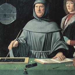 Jacopo de' Barbari, «Ritratto di Luca Pacioli», l'umanista cui si deve la nascita della partita doppia
