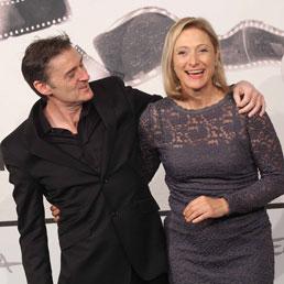 "Photocall del film ""Mental"". nella foto: P.J.Hogan (regista) e Caroline Goodall (LaPresse)"