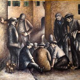 """Ottone Rosai, """"Giocatori di toppa"""", 1928"""