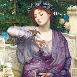 «Lesbia e il suo passerotto», dipinto di Edward John Poynter (1907)