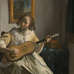 Johannes Vermeer (1632 - 1675) - The Guitar Player, about 1672Oil on canvas - 53 x 46.3 cm - On loan from English Heritage, The Iveagh Bequest (Kenwood) - © English Herita