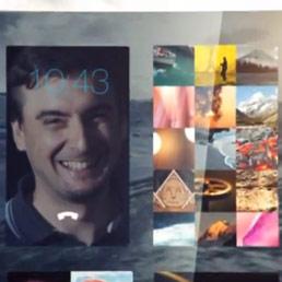 Un dettaglio dell'home screen di Sailfish