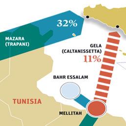 Il gas e gli oleodotti in Libia. Mappa delle infrastrutture energetiche