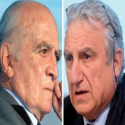 Bassetti, Vitale e la lobby del «51%» la borghesia che sta con Pisapia. Nella foto Piero Bassetti (a sinistra) e Marco Vitale