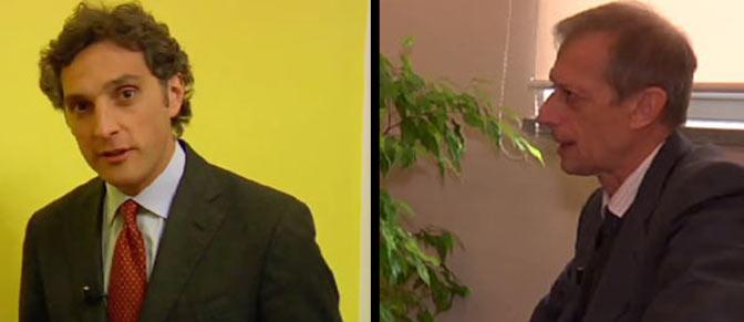 Torino al voto. Da sinistra i candidati Michele Coppola e Piero Fassino