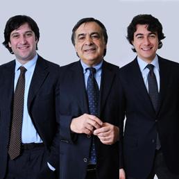Fabrizio Ferrandelli (Pd), Leoluca Orlando (Idv) e Massimo Costa (Pdl)