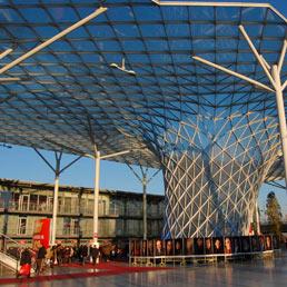 Milano, l'ingresso della Fiera di Rho-Pero