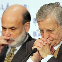 Ben Bernanke e Jean-Claude Trichet