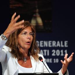 La presidente di Confindustria, Emma Marcegaglia (Ansa)
