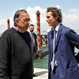 Sergio Marchionne e John Elkann a Venezia