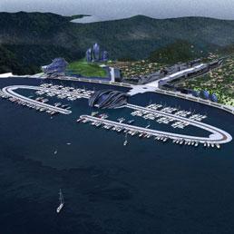 Baia Blu d'Oriente, questo il nome del progetto, presentato al Salone nautico di Genova