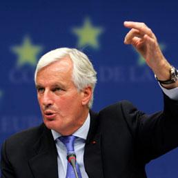 Nella foto il commissario (francese) al Mercato unico, Michel Barnier