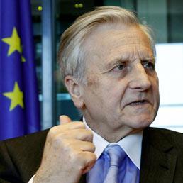 Trichet: conti pubblici dell'Eurozona «relativamente solidi». Rischio inflazione da greggio e materie prime. Nella foto il presidente della Bce, Jean-Claude Trichet