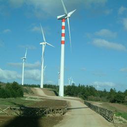 Il Parco Eolico Sa Turrina Manna (foto dal sito www.comune.tula.ss.it)