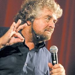 Nella foto il leader del M5S, Beppe Grillo