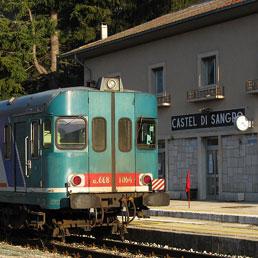 La stazione di Castel di Sangro (© Foto di Giorgio Stagni)