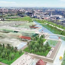 Un rendering del sito Expo (Fotogramma)