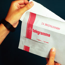 Telegramma La Ricevuta Di Invio Delle Poste Prova La Ricezione E