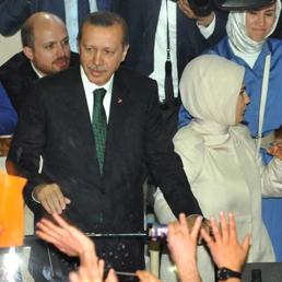Erdogan all'aeroporto di Instanbul