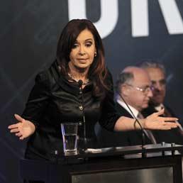 Il Presidente dell'Argentina, Cristina Fernandez de Kirchner (Epa)
