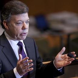 Il presidente della Colombia, Juan Manuel Santos (Bloomberg)