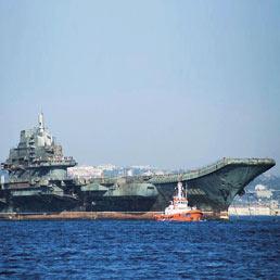 Quasi operativa la prima portaerei cinese, Varyag