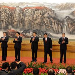Il nuovo Politburo cinese (Afp)