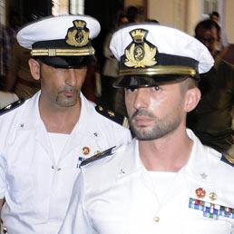 Nella foto i marò Salvatore Girone (a sinistra) e Massimiliano Latorre