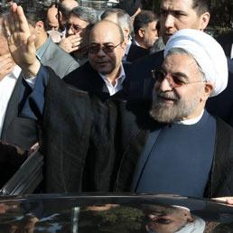 Il presidente iraniano Hassan Rohani (Afp)