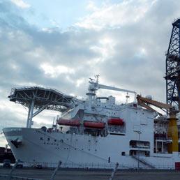 Nave Chikyu ancorata nel porto di Shimizu (Afp)