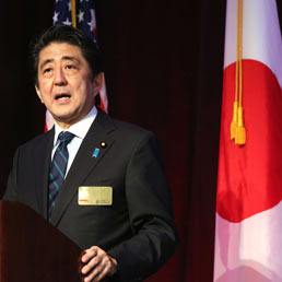 Il primo ministro Shinzo ABe. (Afp)