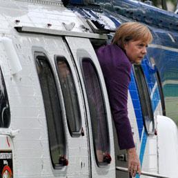 Merkel ha rischiato per un incidente in elicottero