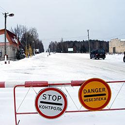 Nel cuore di Cernobyl 25 anni dopo. Nella foto l'ingresso alla zona di esclusione