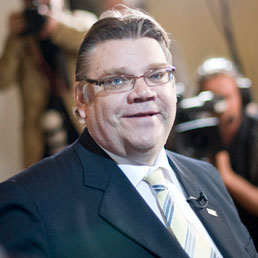 Il leader dei Veri finlandesi, Timo Soini (Afp)