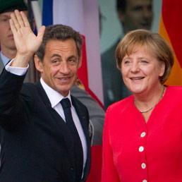 Nicolas Sarkozy e Angela Merkel (Afp)