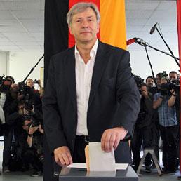 Klaus Wowereit al voto (Ap)