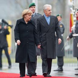 Via libera di Merkel a Monti per la nuova Europa