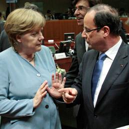 Angela Merkel e François Hollande (Ap)